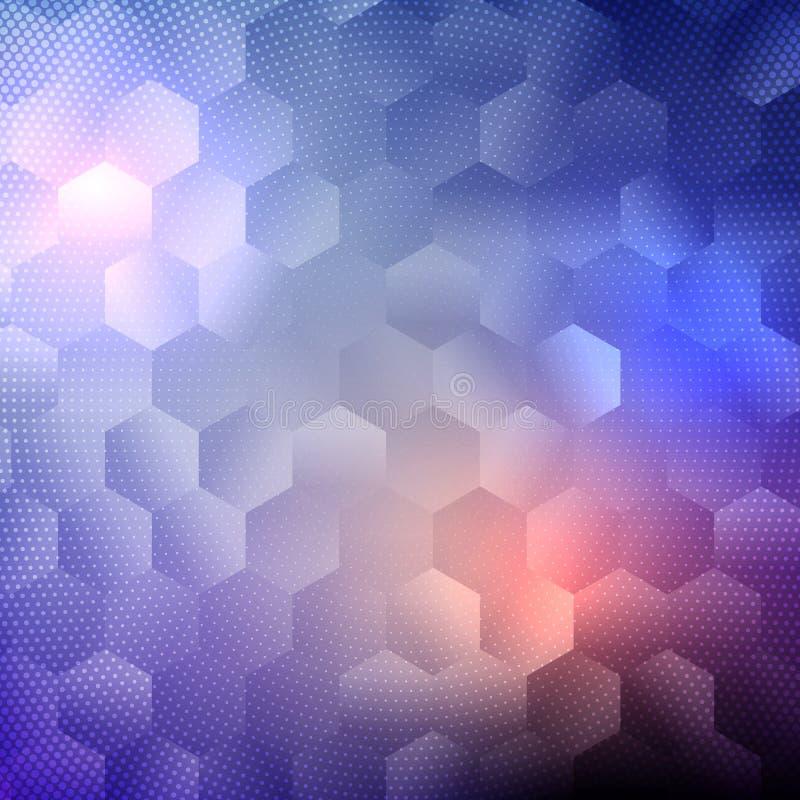 Abstracte ontwerpachtergrond met hexagon patroon stock illustratie