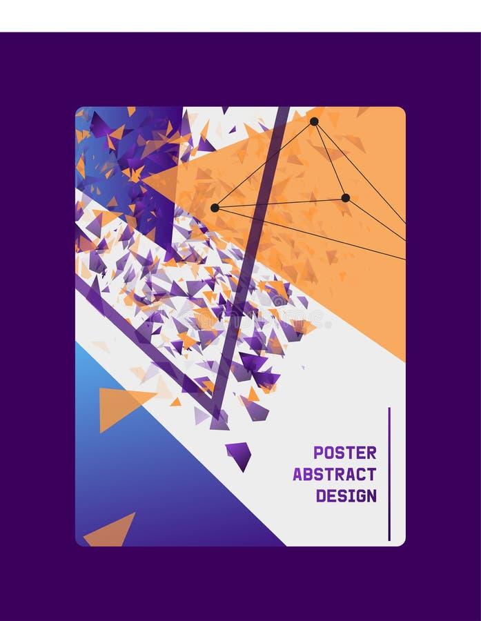 Abstracte ontwerpbanner, kaart, affiche vectorillustratie Minimalisticontwerp, creatief concept, moderne achtergrond vector illustratie
