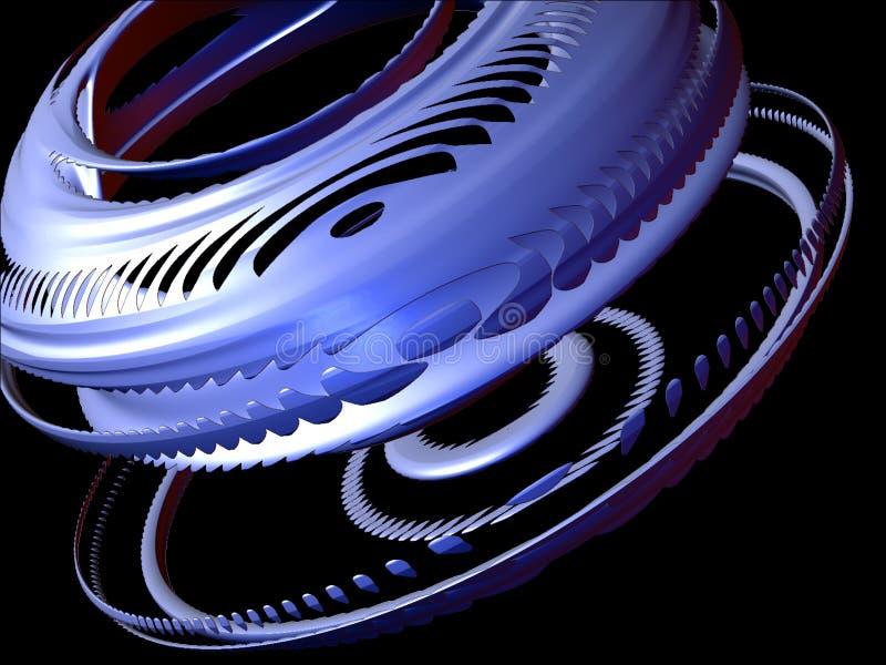 Abstracte ontwerpelementen 3D, Vastgestelde I, detail 3 vector illustratie