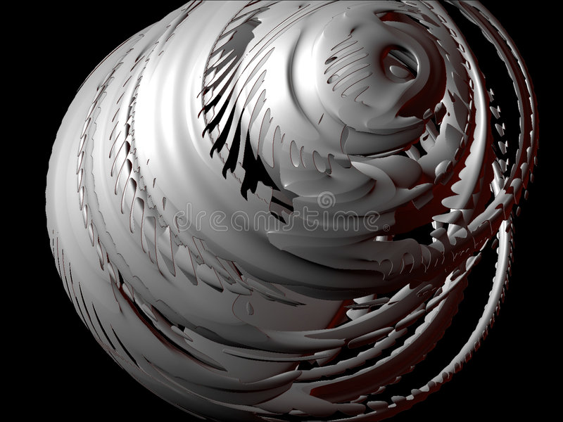 Abstracte ontwerpelementen 3D, Vastgestelde I, detail 4 royalty-vrije illustratie