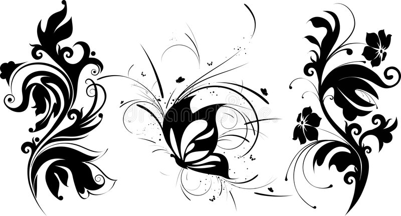 Abstracte ontwerpelementen royalty-vrije illustratie
