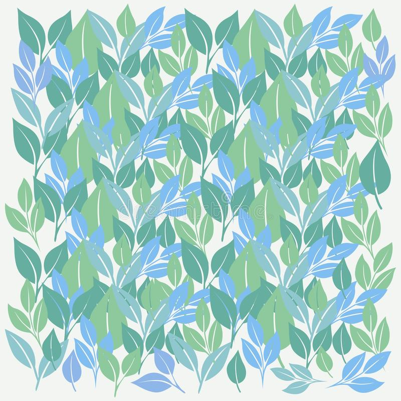 Abstracte ontzagwekkende blad patern vrije vector als achtergrond stock illustratie