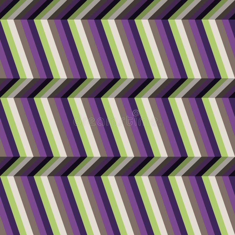 Abstracte optische illusiestrepen royalty-vrije illustratie