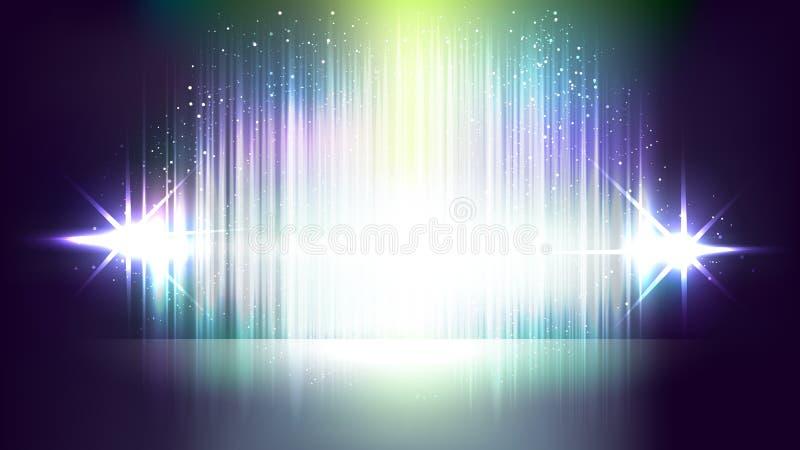 Abstracte opvlammende lichte vectorachtergronden stock afbeeldingen