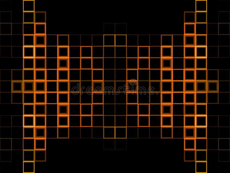Abstracte oranje achtergrond royalty-vrije illustratie
