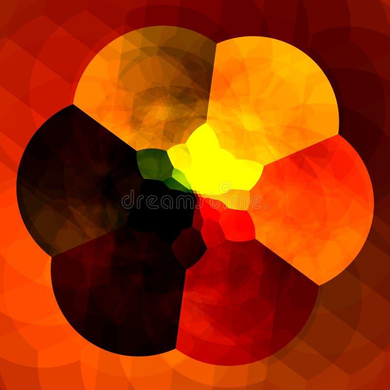 Abstracte Oranje Achtergrond voor Ontwerpkunstwerken Kleurrijke fractals Creatief Bloem Digitaal Kunstwerk Caleidoscopische Artis vector illustratie