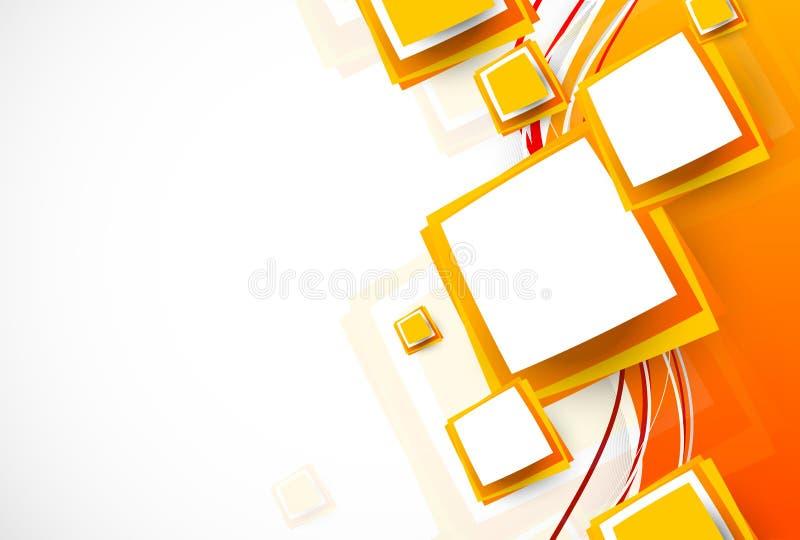 Abstracte oranje brochure vector illustratie