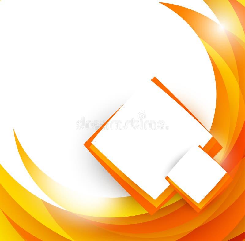 Abstracte oranje brochure stock illustratie