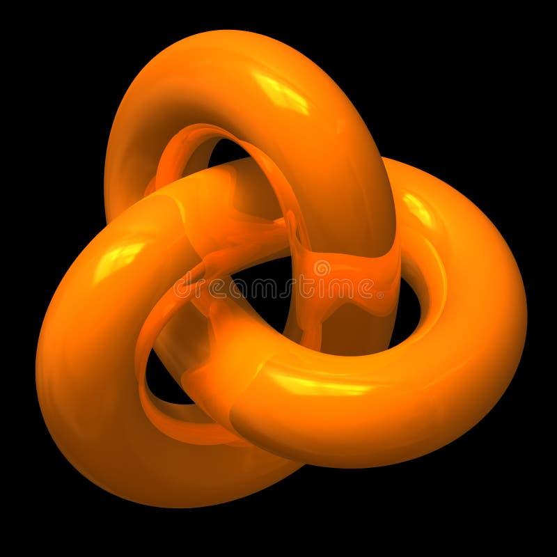 Abstracte oranje eindeloze lijn stock illustratie