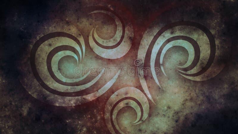 Abstracte oude achtergrond voor ontwerp Donker grungebehang vector illustratie