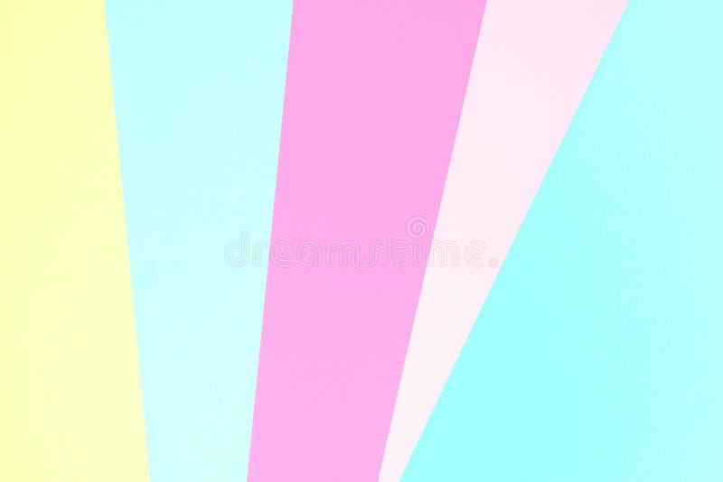 Abstracte pastelkleur gekleurde document textuurachtergrond Minimale geometrische vormen en lijnen in pastelkleurkleuren stock afbeeldingen