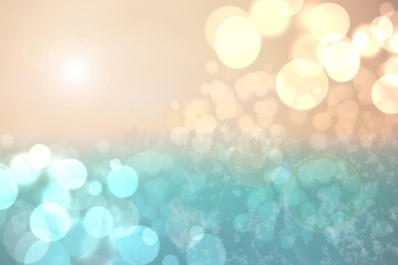 Abstracte pastelkleur gekleurde heldere de zomer bokeh achtergrond Concept vector illustratie