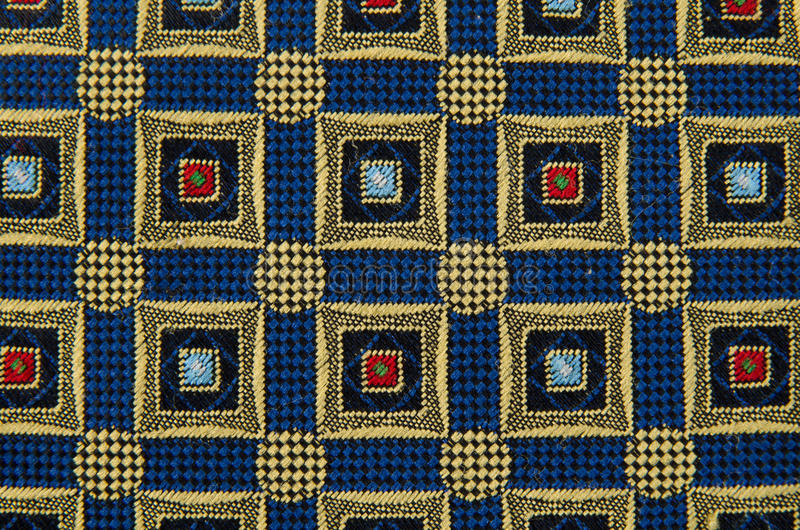 Abstracte patroon gesierde textiel stock foto
