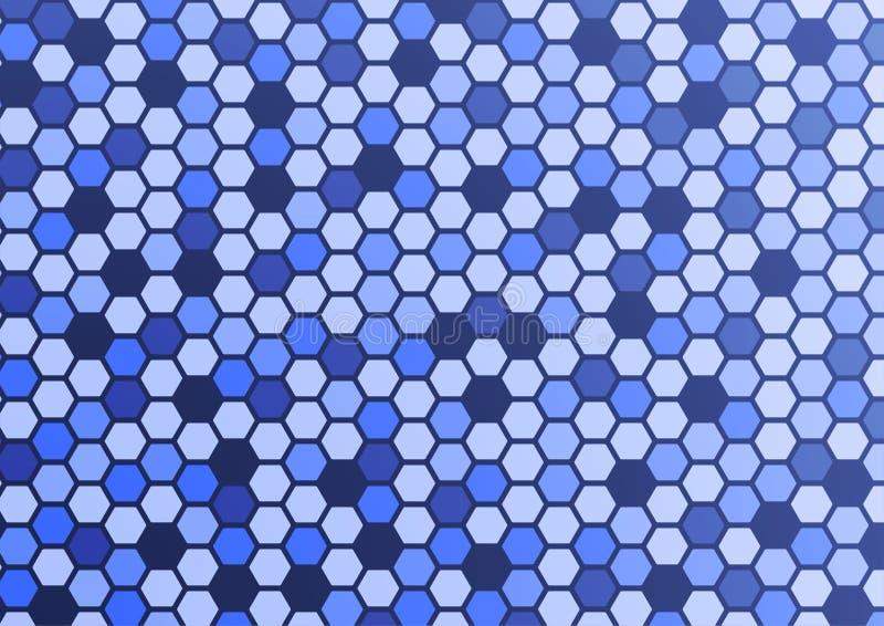 Abstracte patroon hexagon blauwe achtergrond stock afbeeldingen