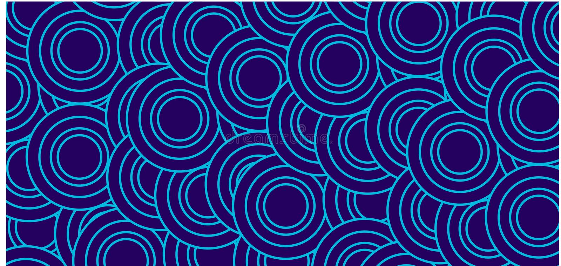 Abstracte patroonachtergrond, Lichtblauw rond patroon op achterachtergrond vector illustratie