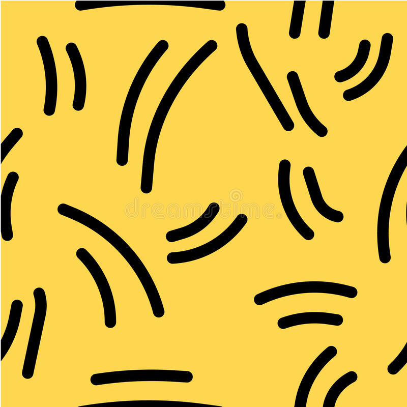 Abstracte patroonachtergrond met rond gemaakte hand-drawn lijnen Grappig retro ontwerp Uitstekende stijl terug in de jaren '90 royalty-vrije illustratie