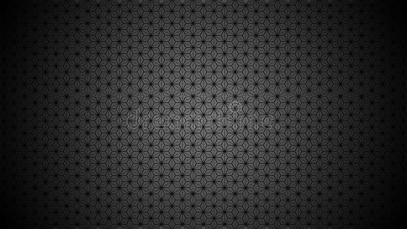 Abstracte patroonoppervlakte die kubussen, sterren, zeshoeken vormen royalty-vrije stock foto