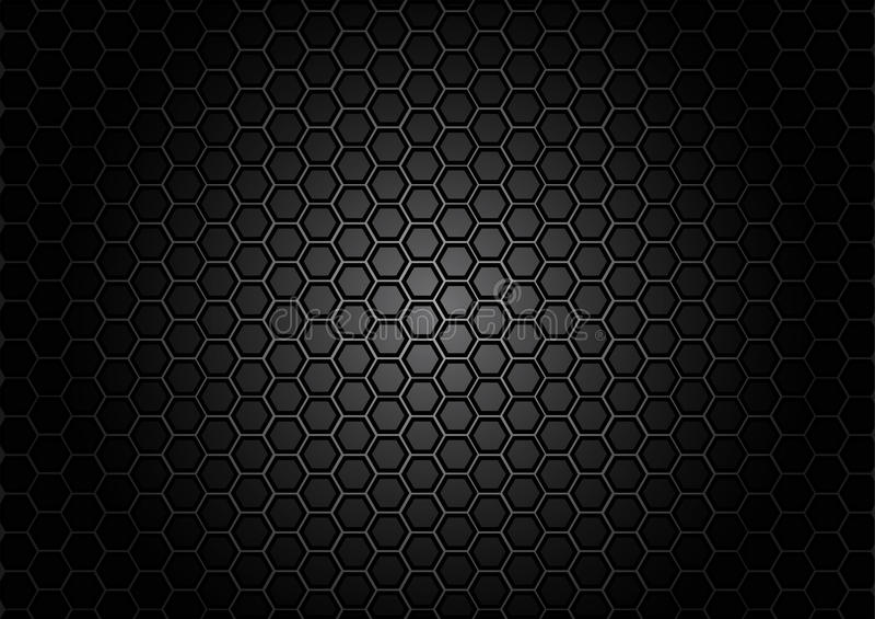 Abstracte patroonzeshoek op zwarte kleurenachtergrond vector illustratie