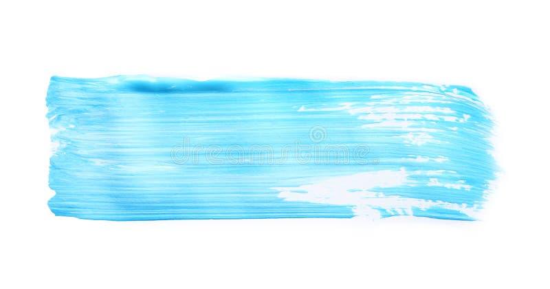 Abstracte penseelstreek van blauwe verf royalty-vrije stock foto