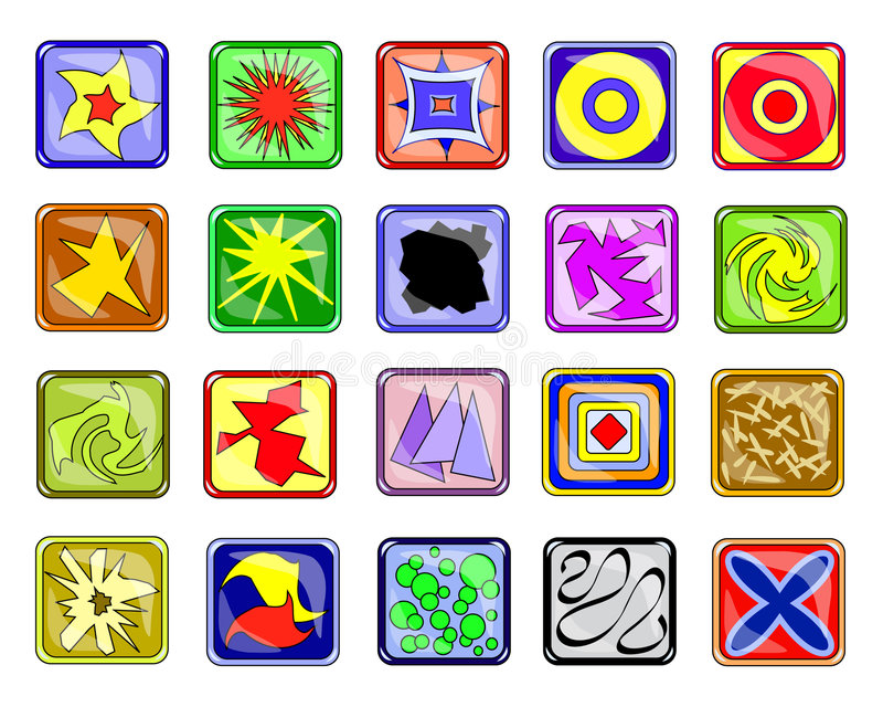 Abstracte pictogrammen royalty-vrije illustratie