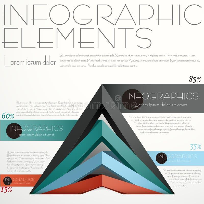 Abstracte piramideinfographics royalty-vrije illustratie