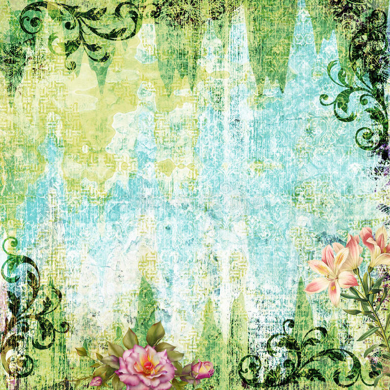 Abstracte plakboekdocument achtergrond royalty-vrije illustratie