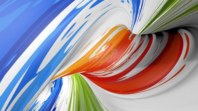 Abstracte plastic textuur, de plastic textuur van de golfkleur, de achtergrond van de golfkleur, Kleurrijk golvend gestreept patr royalty-vrije stock afbeeldingen