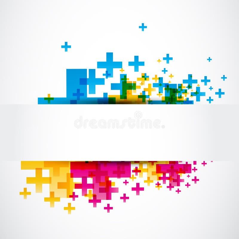 Abstracte positieve plustekenbanner vector illustratie