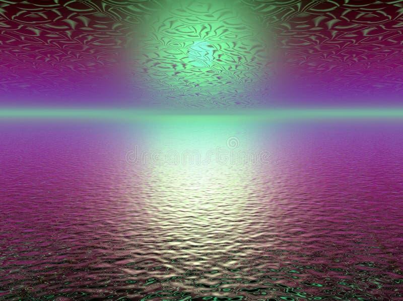 Abstracte purpere 3d zonsondergang