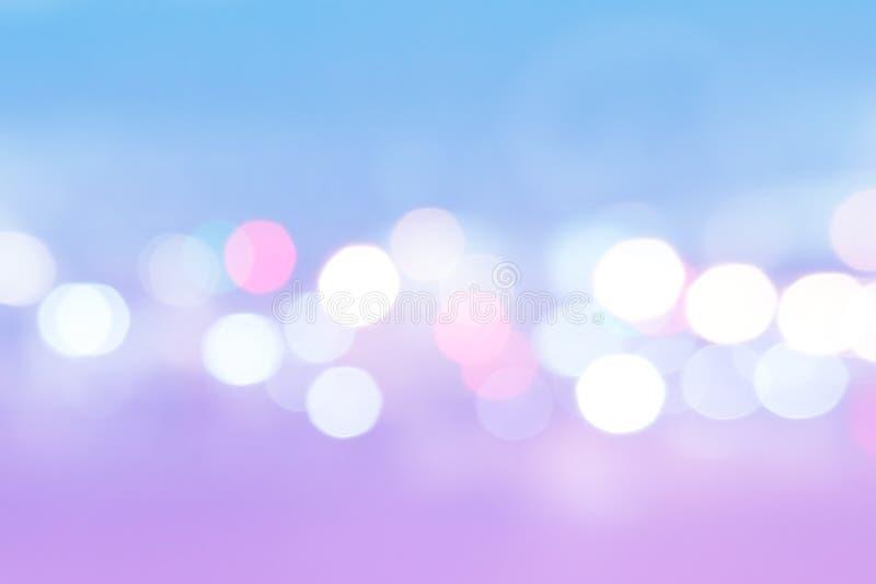 Abstracte Purpere en Blauwe Bokeh Pastelkleur Lichte Textuur Mooi Roze, rond Vaag Blauw royalty-vrije stock afbeeldingen