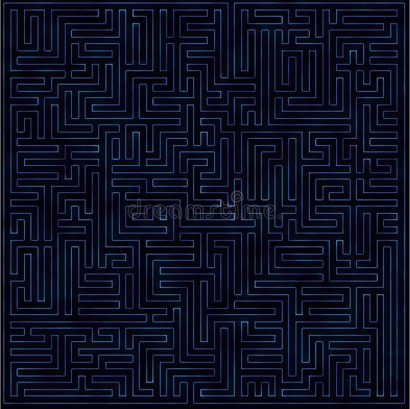 Abstracte purpere glanzende labirinth royalty-vrije stock foto