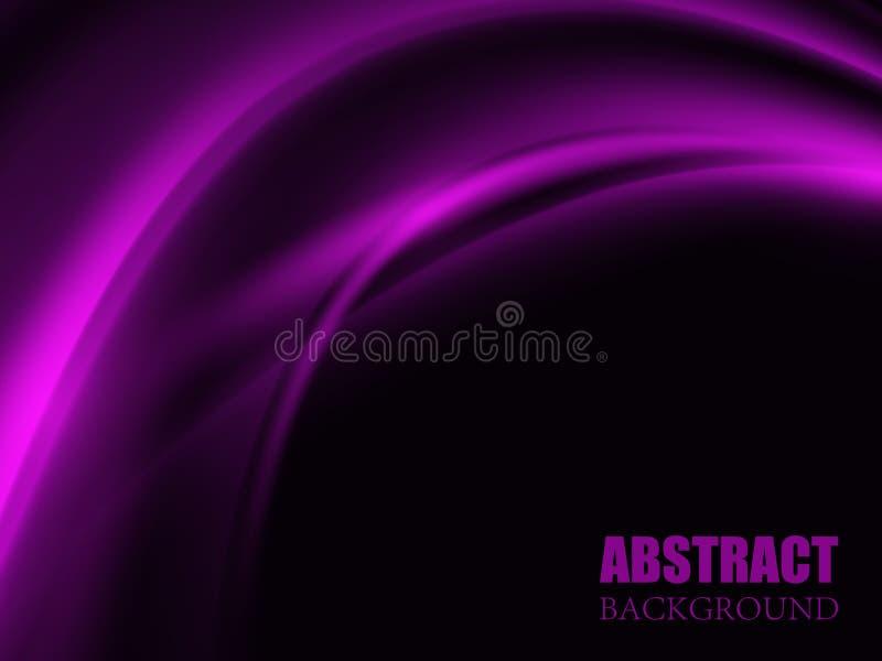 Abstracte purpere golfachtergrond Vector illustratie royalty-vrije illustratie