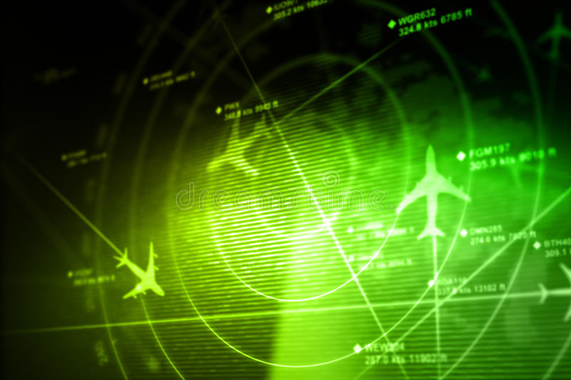 Abstracte radar met doelstellingen royalty-vrije illustratie