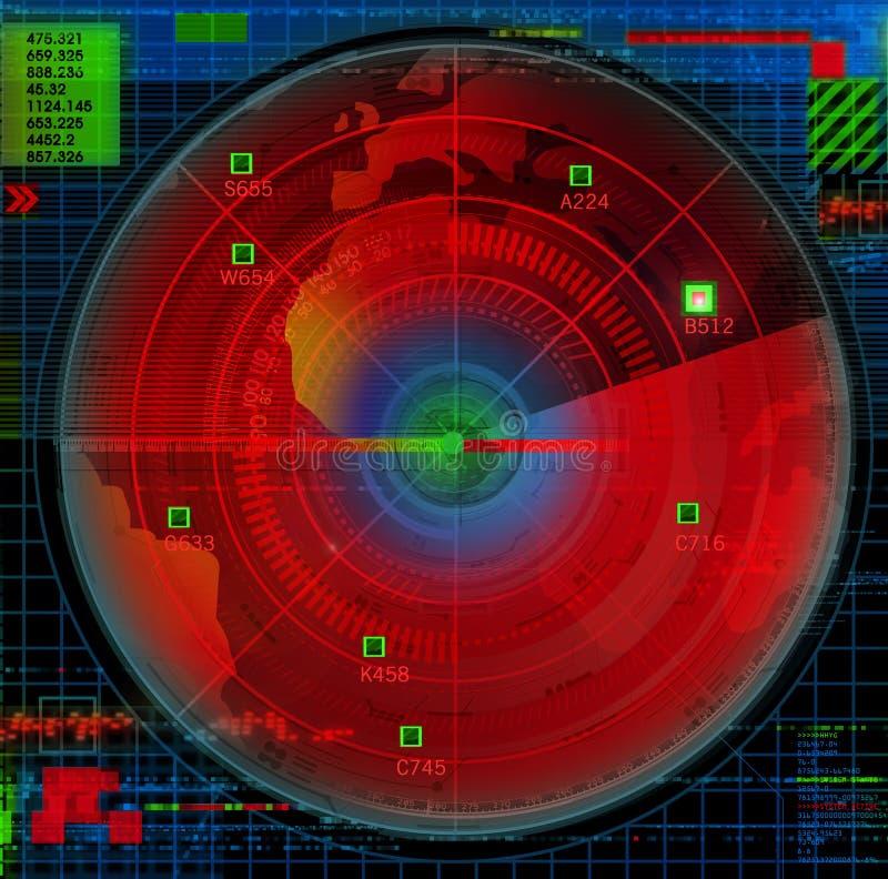 Abstracte radarillustratie royalty-vrije illustratie