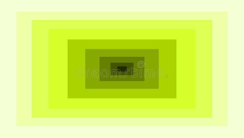 Abstracte rechthoek geometrisch met verschillende gele kleuren vector illustratie