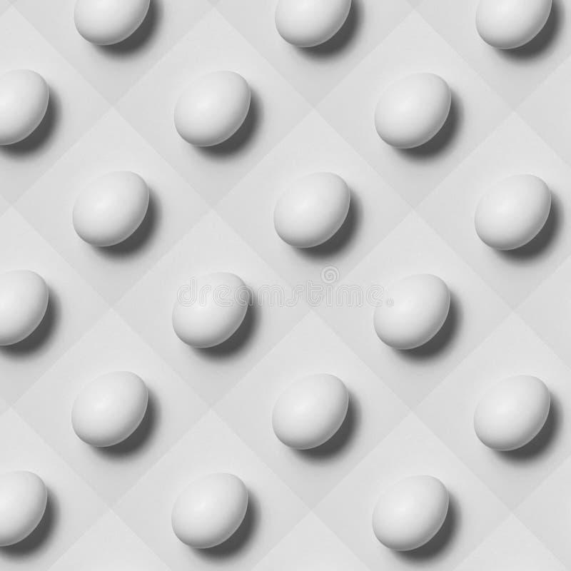 Abstracte regeling van eieren Eieren in een ongebruikelijke regeling stock foto's