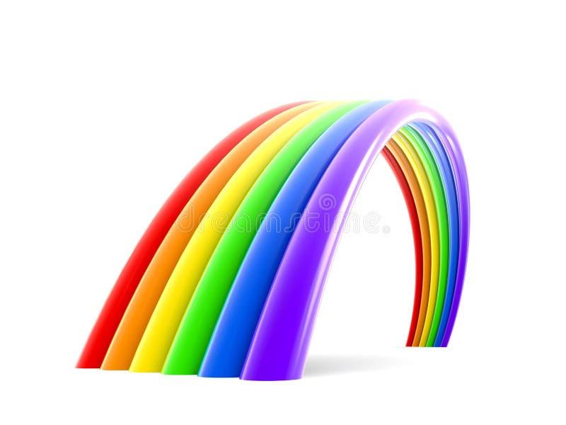 Abstracte regenboog stock illustratie
