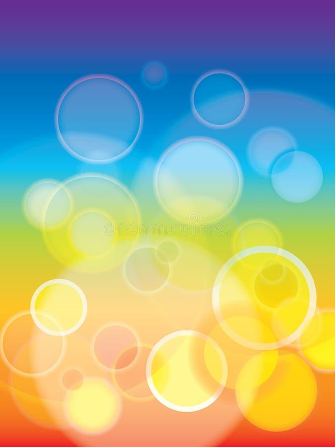 Abstracte Regenboog bokeh achtergrond royalty-vrije illustratie