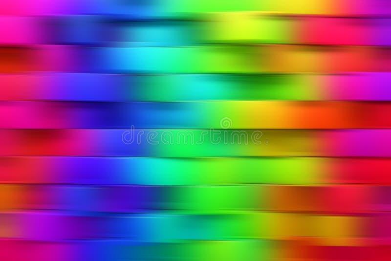 Abstracte regenboog vage achtergrond stock illustratie