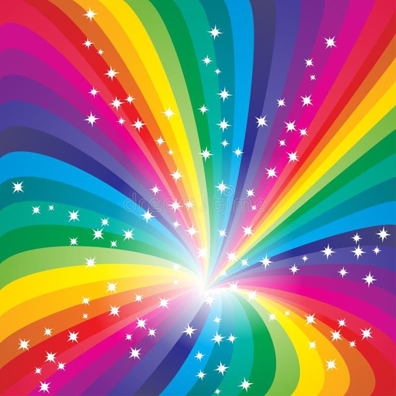 Abstracte regenboogachtergrond royalty-vrije illustratie