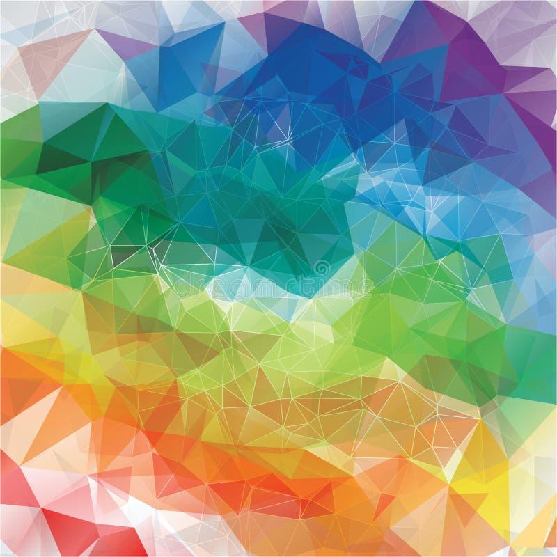 Abstracte regenboogachtergrond stock illustratie