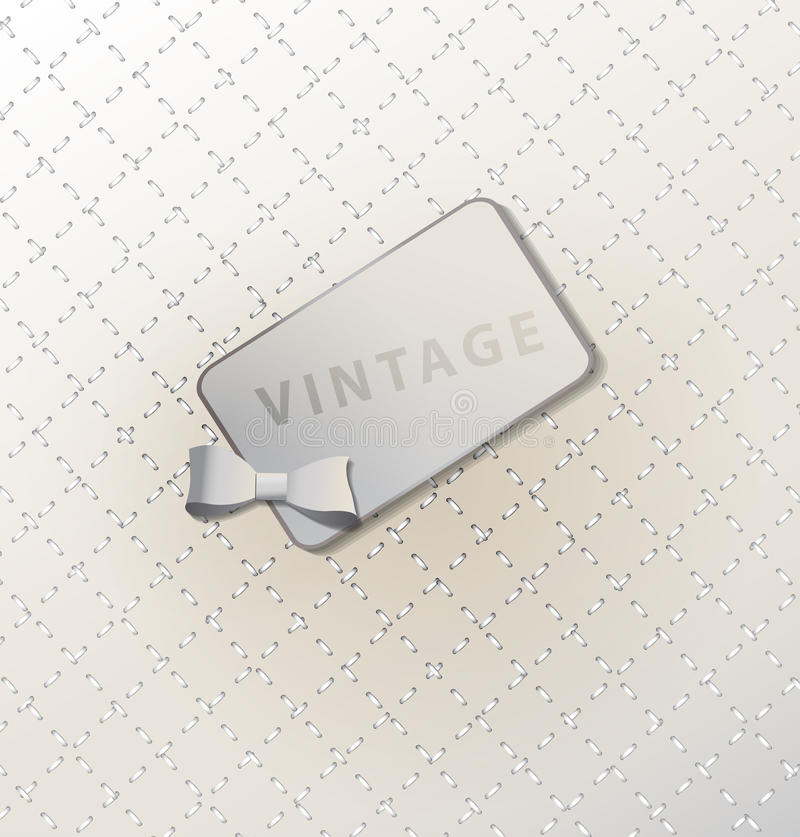 Abstracte retro achtergrond met retro etiket stock illustratie