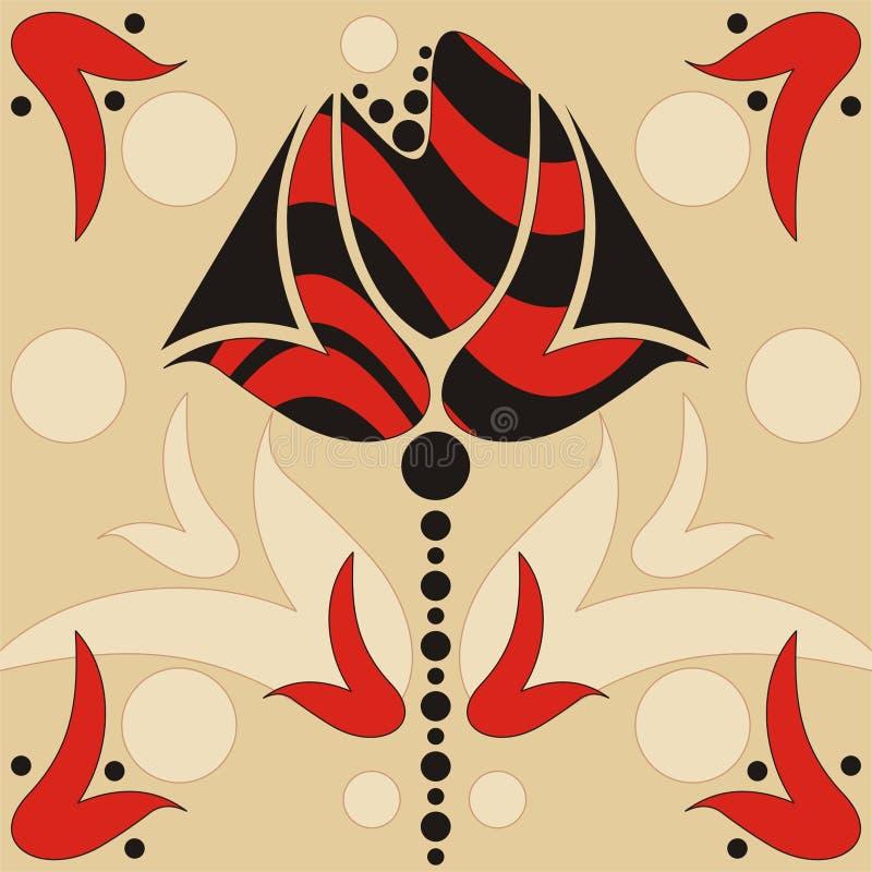Abstracte retro bloem royalty-vrije illustratie