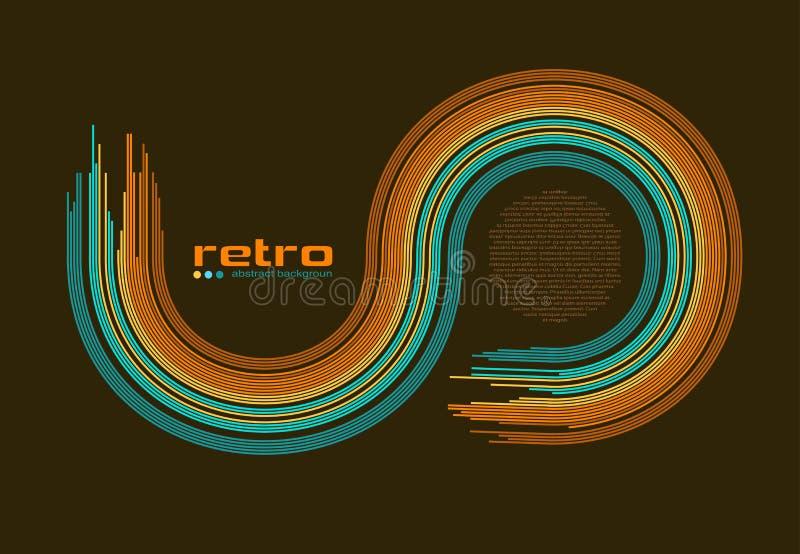 Abstracte retro discoachtergrond -. stock illustratie