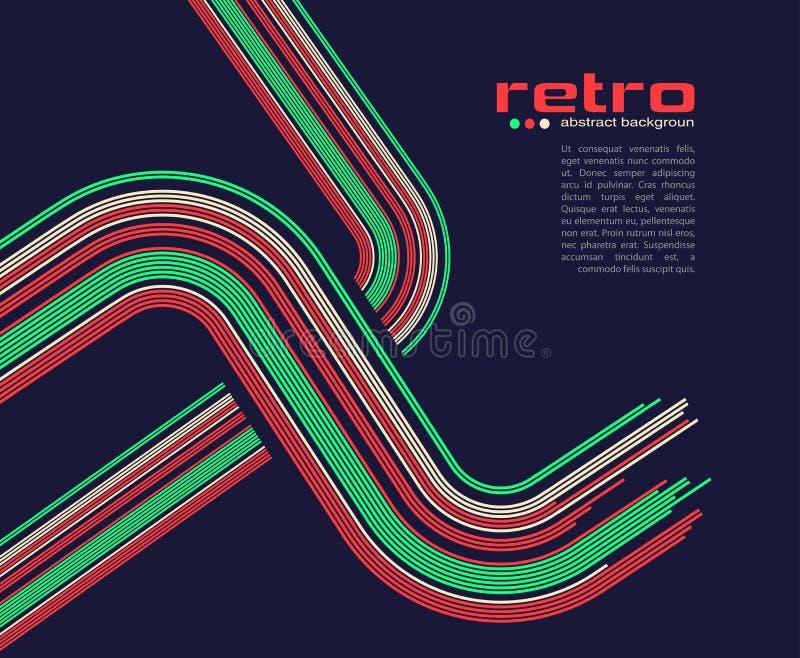 Abstracte retro discoachtergrond - vector. vector illustratie