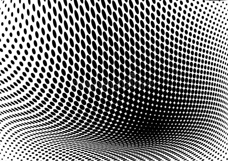 Abstracte retro vectorpunten halftone golf stock illustratie