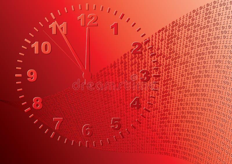 Abstracte rode achtergrond. stock illustratie