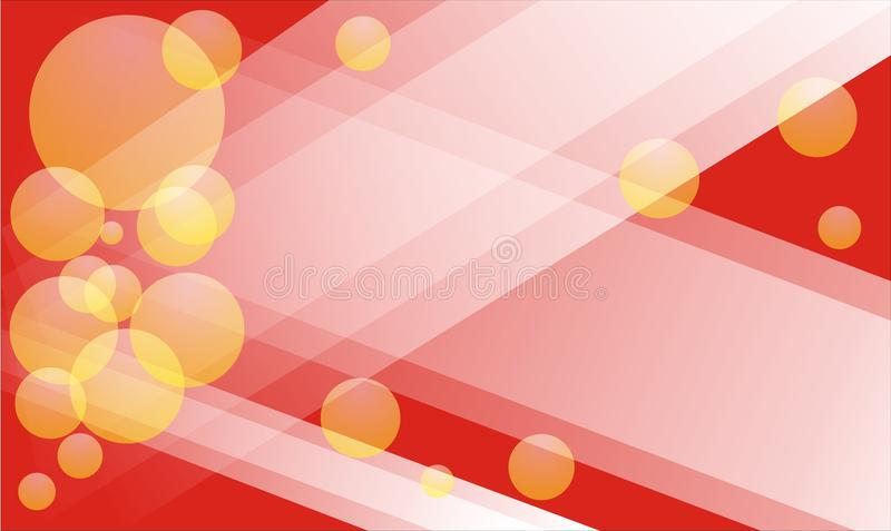 Abstracte Rode Achtergrond met vierkante en gele bellen royalty-vrije stock fotografie