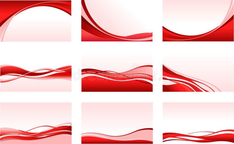 Abstracte rode achtergronden royalty-vrije illustratie