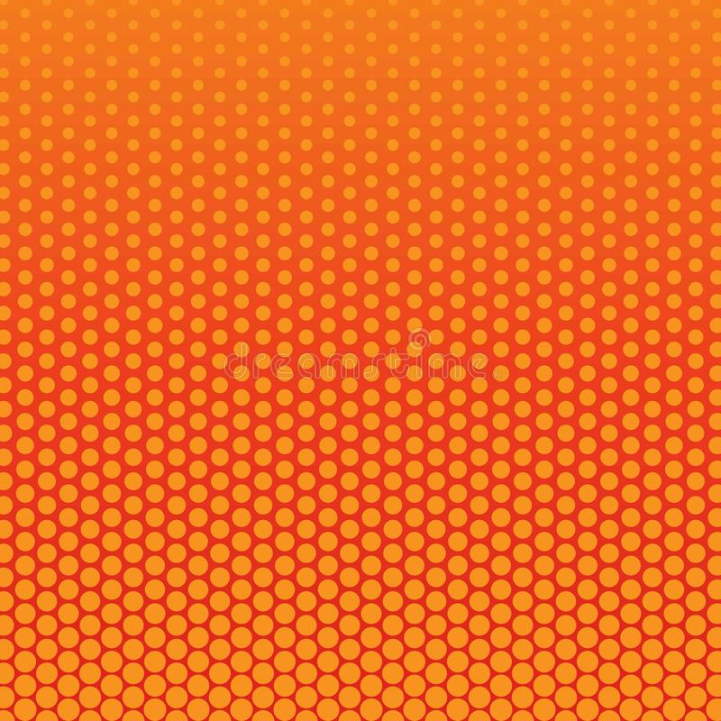Abstracte rode en oranje kleur van halftone patroon van cirkelvormen vector illustratie